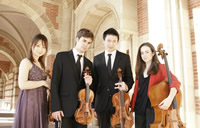 Quartet La Mi Los Angeles, California (L to R): Eriko Tsuji (violin), Ambroise Aubrun (violin), Din Hann Sung (viola) and Hillary Smith (cello)