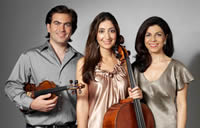 Sima Trio New York, NY l. to r., Sami Merdinian, violin; Ani Kalayjian, cello; Sofya Melikyan, piano
