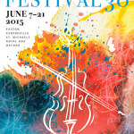 Festival 30 poster created by graphic designer Joanne Shipley