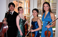 Attacca Quartet New York SILVER PRIZE WINNER l. to r., Andrew Yee, cello; Gillian Gallagher, viola; Keiko Tokunaga, violin; Amy Schroeder, violin;