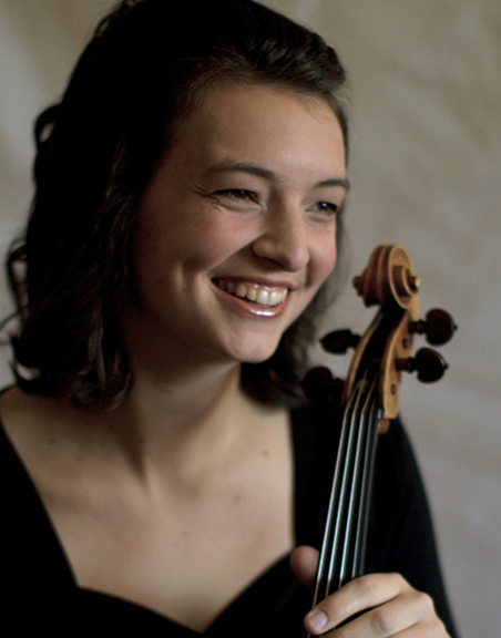 Pictured is Rebecca Albers, Violist