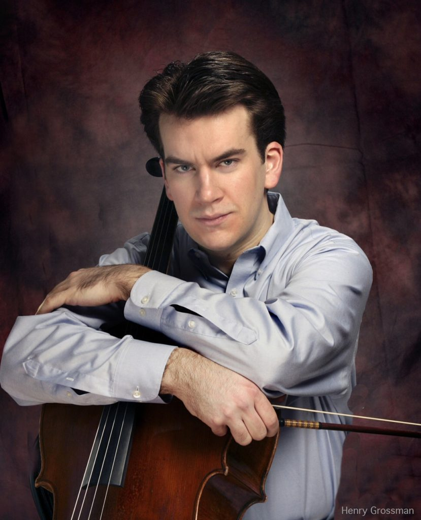Pictured is Edward Arron, Cellist