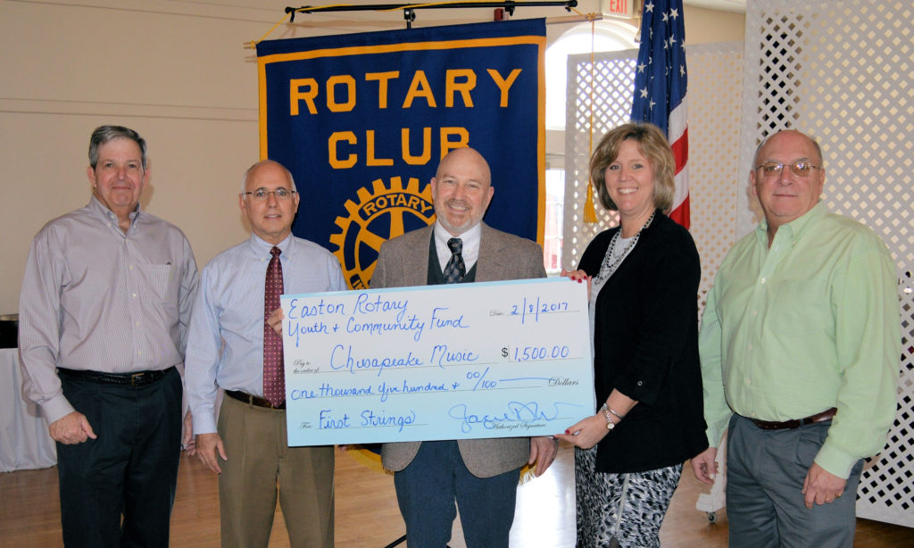 Chesapeake Music Receives Easton Rotary Youth & Community Fund Grant for YouthReach Program